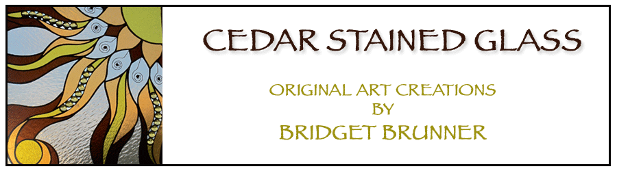 Cedar Stained Glass - Original Art Creations by Bridget Brunner